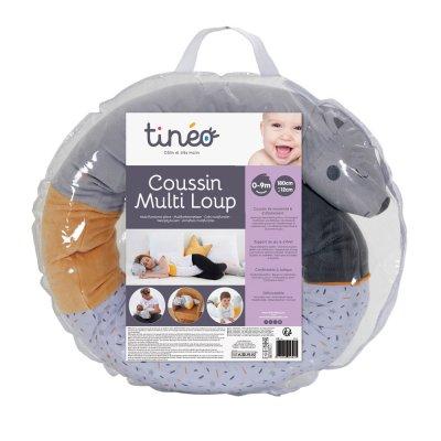 Coussin d'allaitement multi loup Tineo