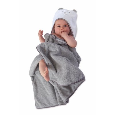 Sortie de bain evolutive grise Tineo