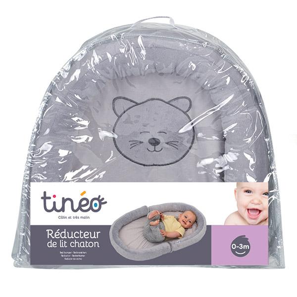 Réducteur bébé de lit chaton gris Tineo