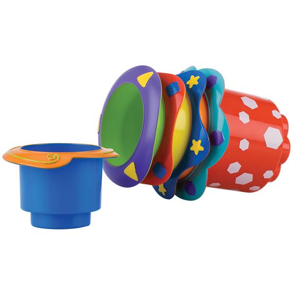 Jouet de bain 5 pots empilables Nuby