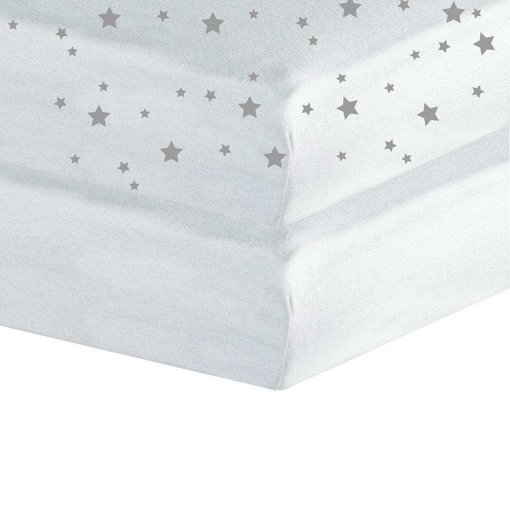 Lot de 2 draps housse 60x120cm toiles blanc de trois for Drap housse blanc