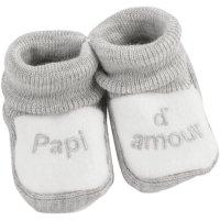 Chaussons bébé papi d'amour gris