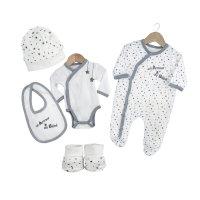 Kit 5 pièces 1 mois un amour de bébé