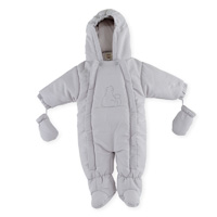 Combi pilote ours polaire 3/6 mois gris