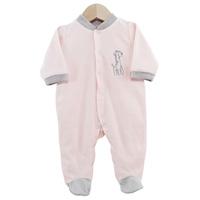 Pyjama bébé dors bien girafe rose 1 mois