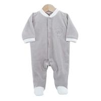Pyjama bébé dors bien ourson gris 1 mois