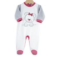 Pyjama bébé ourson blanc rose