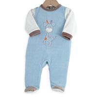 Pyjama bébé girafe bleu