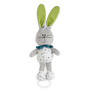 Peluche musicale lapin accroch'coeur