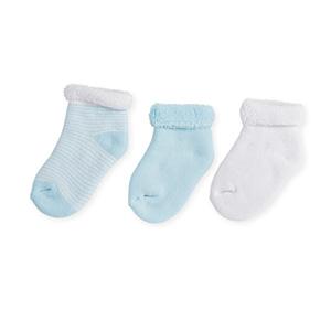 Chaussettes bébé 3-6 mois rayures bleu/blanc
