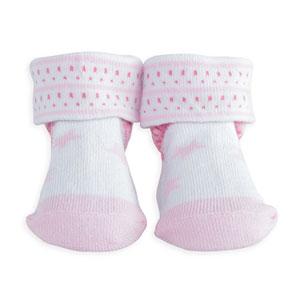 Chaussettes bébé étoiles rose
