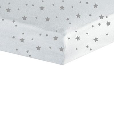 Drap housse 60x120cm étoiles Trois kilos sept