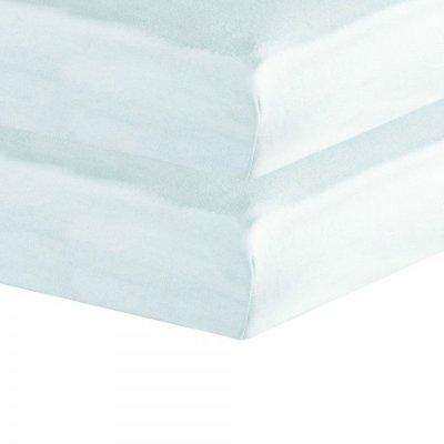 Lot de 2 draps housse 60 x 120 cm blanc Trois kilos sept