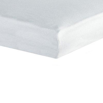 Housse alèse viscose de bambou 60x120cm blanc Trois kilos sept