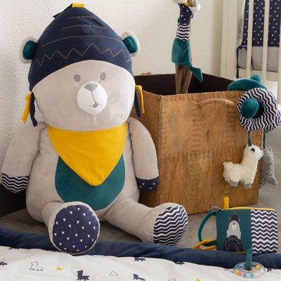 Jouet d'éveil bébé cube d'activités lama m'ours Trois kilos sept