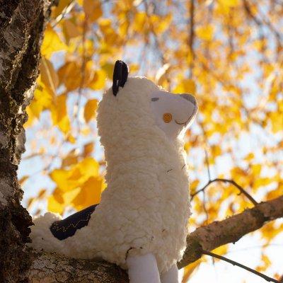 Peluche bébé lama 30 cm lama m'ours Trois kilos sept