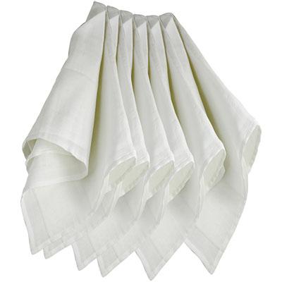Lot de 6 langes couches hydro 70x70 cm blanc Trois kilos sept