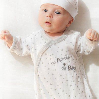 Kit naissance 5 pièces un amour de bébé Trois kilos sept