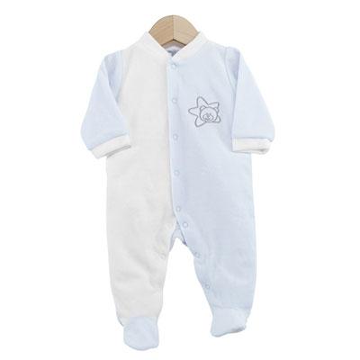 Pyjama bébé dors bien étoile blanc ciel 0 mois Trois kilos sept