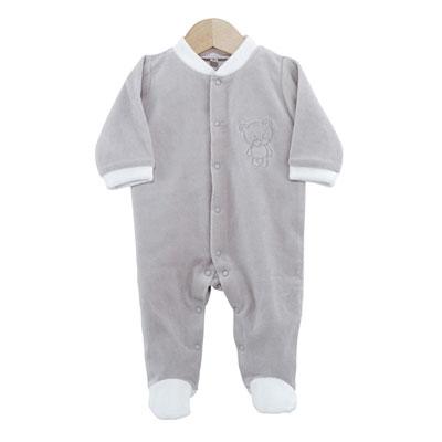 Pyjama bébé dors bien ourson gris 0 mois Trois kilos sept