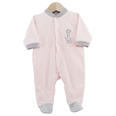 Pyjama bébé dors bien girafe rose 1 mois Trois kilos sept