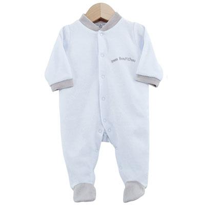 Pyjama bébé dors bien mon bout'chou bleu 3 mois Trois kilos sept