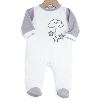 Pyjama bébé nuage blanc Trois kilos sept