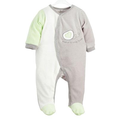 Pyjama bébé mon p'tit bou d'chou garçon Trois kilos sept