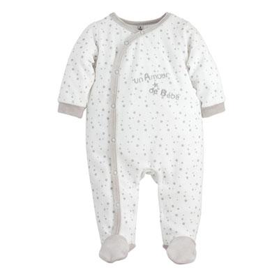 Pyjama bébé un amour étoiles Trois kilos sept