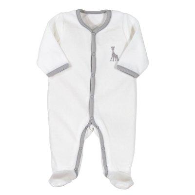 Pyjama dors bien y velours sophie la girafe blanc Trois kilos sept