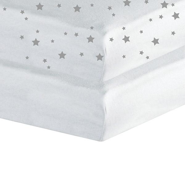 lot de 2 draps housse 60x120cm toiles blanc 5 sur allob b. Black Bedroom Furniture Sets. Home Design Ideas