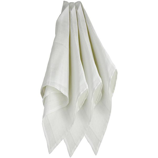 Lot de 3 langes couches hydro 115x115 cm blanc Trois kilos sept