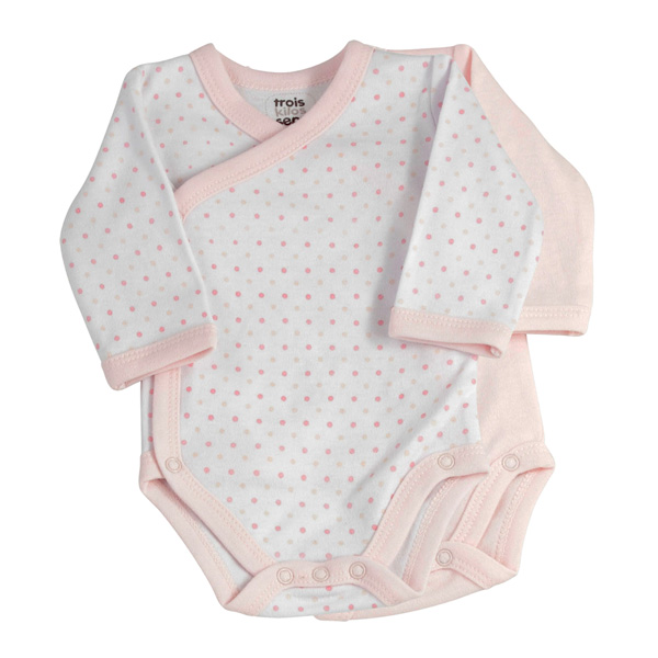 Lot de 2 bodies pois rose Trois kilos sept