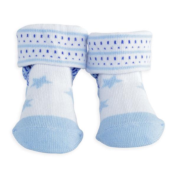 Chaussettes bébé étoiles bleu Trois kilos sept