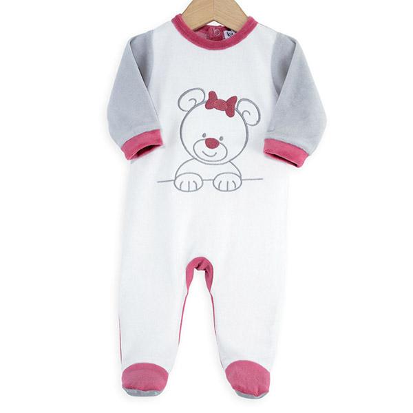 ab9abc0b4d82b Pyjama bébé ourson blanc rose. Existe en plusieurs tailles