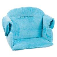 Coussin de chaise haute évolutive bleu