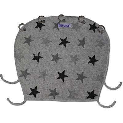 Protection pour poussette nacelle et coque dooky étoiles grises Dooky
