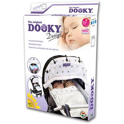 Protection pour poussette nacelle et coque dooky étoiles argent Dooky