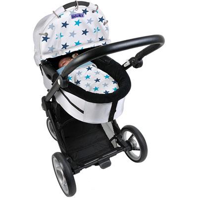 Protection pour poussette nacelle et coque dooky étoiles bleu Dooky