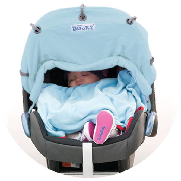 Protection pour poussette nacelle et coque dooky bleu ciel Dooky