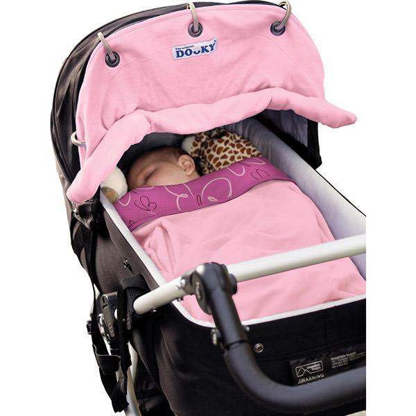Protection pour poussette nacelle et coque dooky rose clair Dooky