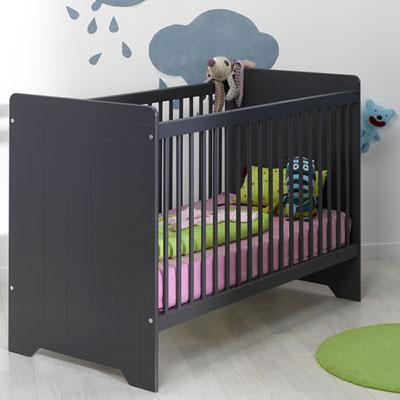 Chambre bébé trio oslo ardoise lit + commode + armoire Loupiot