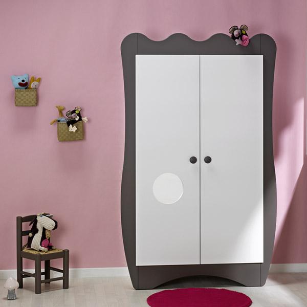 chambre b b trio doudou taupe lit commode armoire 25. Black Bedroom Furniture Sets. Home Design Ideas