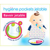 Lot de 12 bavoirs jetables Orgakiddy