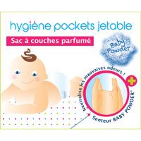 Boîte de 50 sacs à couches parfumé talc bébé