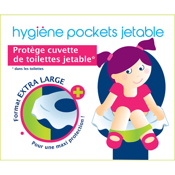 Lot de 10 protèges cuvette de toilettes extra large Orgakiddy