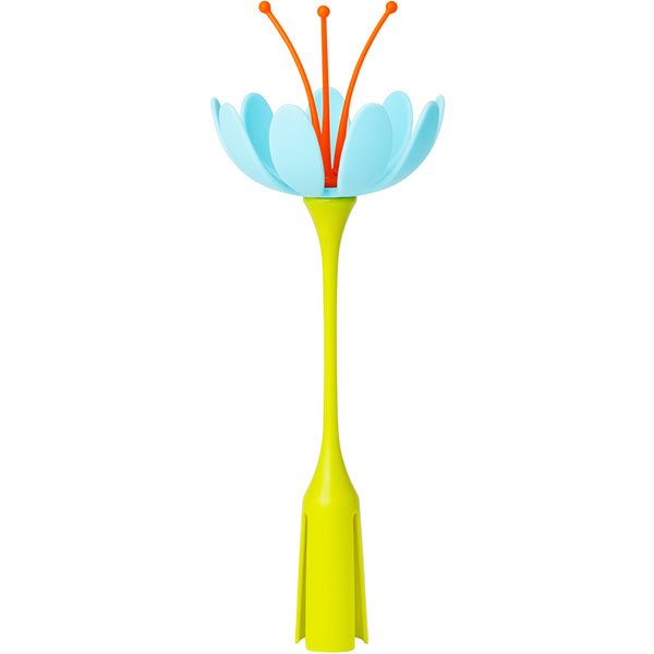 Fleur stem pour sèche biberon grass ou lawn orange / bleu Boon