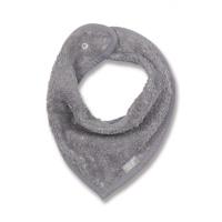 Bavoir bandana gris