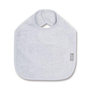 Bavoir 37cm gris clair