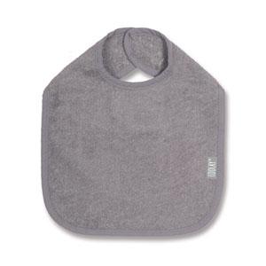 Bavoir 37cm gris